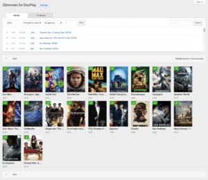 Dbmovies > Movies importer